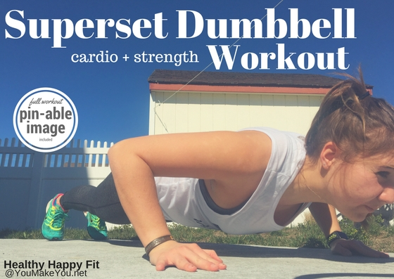 Superset Dumbbell Cardio and Strength Workout